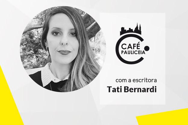 Escritora Tati Bernardi no Café Pauliceia