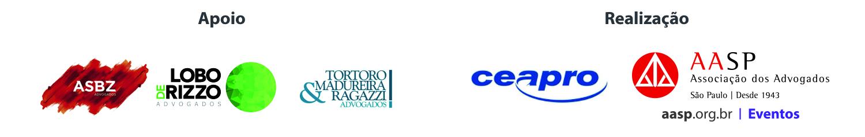 Apoio e realização: ASBZ, Lobo de Rizzo, Tortoro & Madureira Ragazzi Advogados, Ceapro, AASP