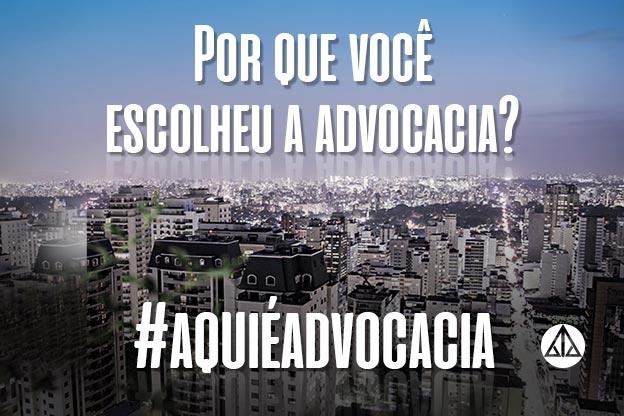 Participe da nova campanha da AASP: #aquiéadvocacia