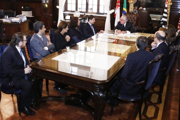 Diretores da AASP reúnem-se com o presidente do TJSP