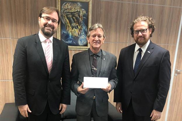 Diretor da AASP visita presidente do TJGO, desembargador Walter Carlos Lemes